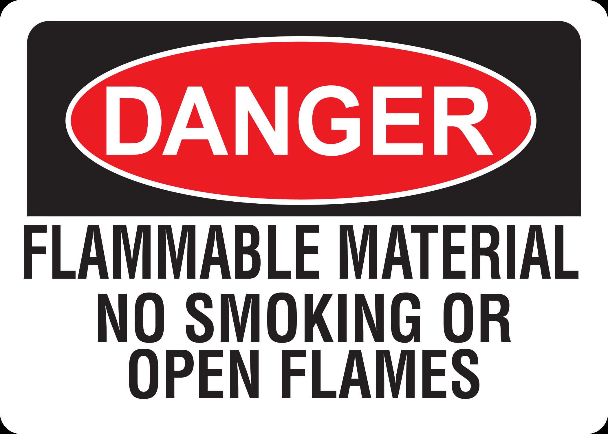 Danger Flammable Material