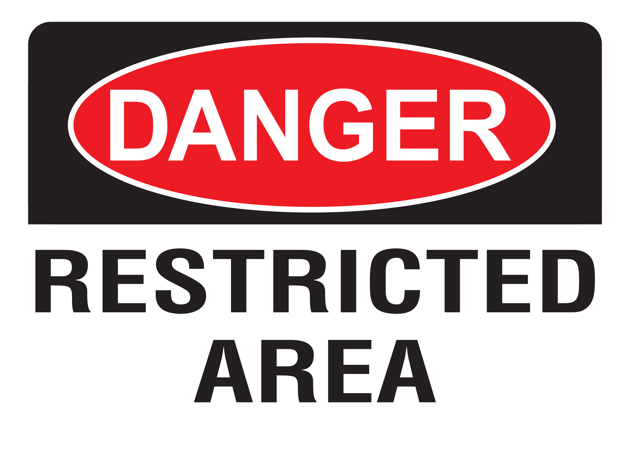 Danger Restricted Area