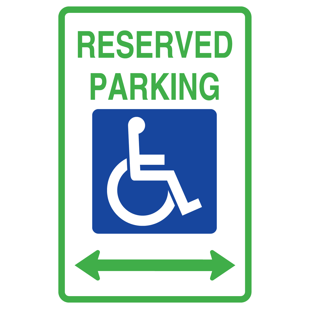 Reserved Hanicap Parking Doubel Arrow