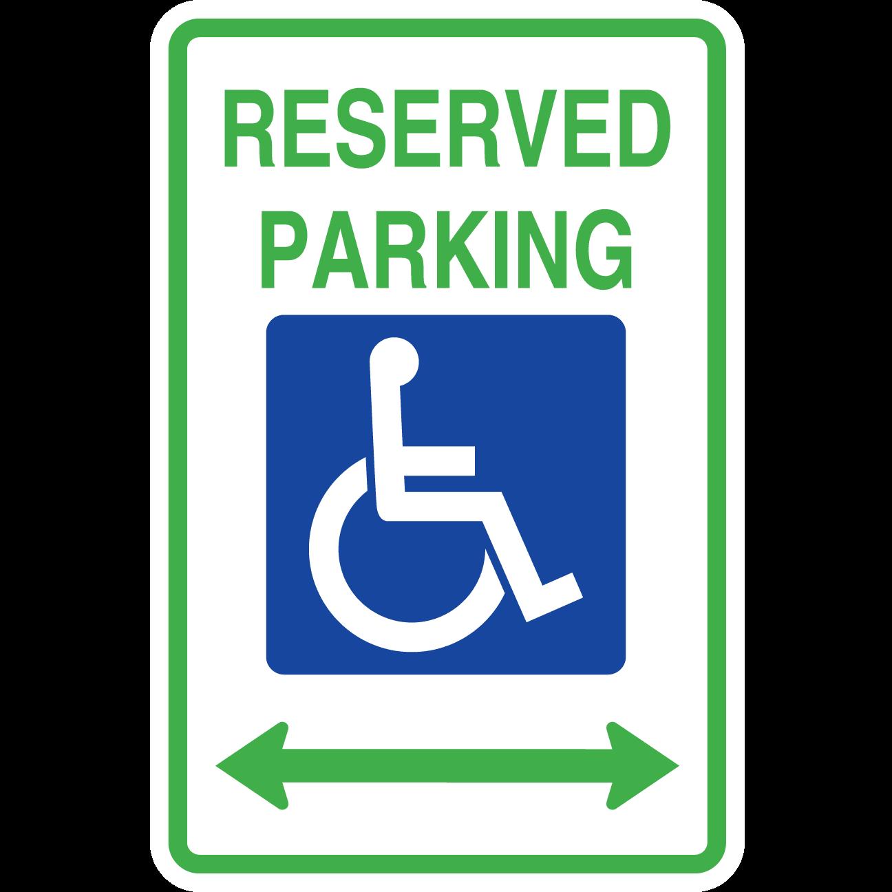 Reserved Hanicap Parking Doubel Arrow