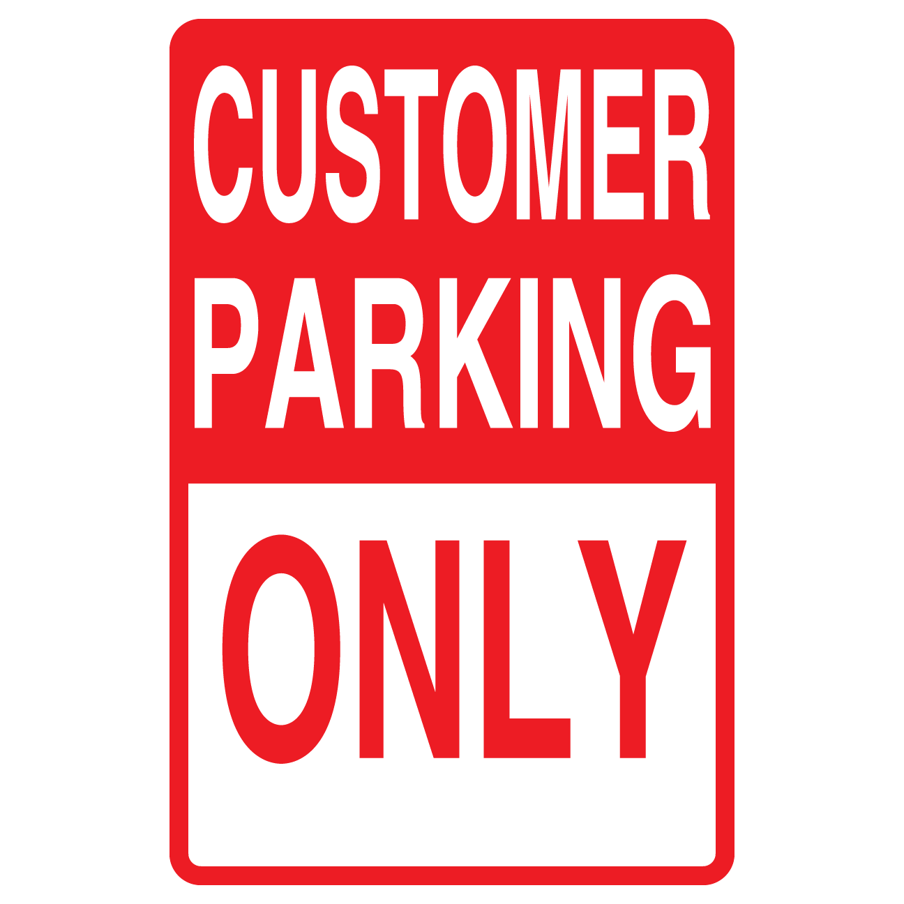Restaurant Parking Signs - Reserved Parking Sign, No ...