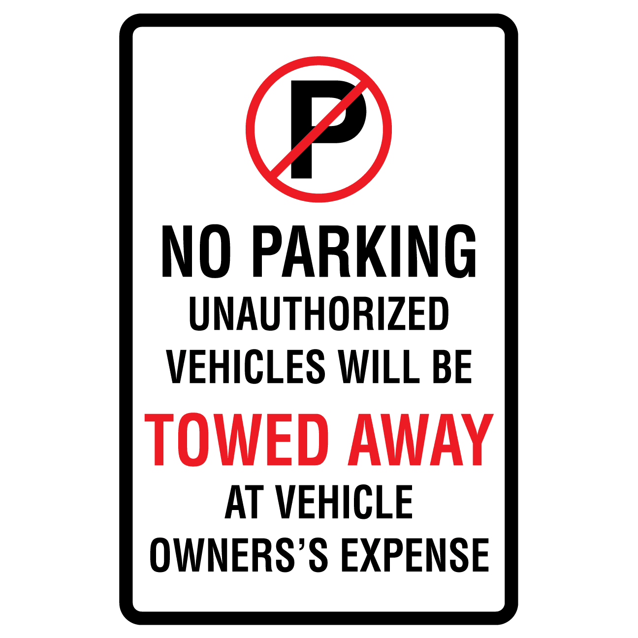 No Parking Tow Away