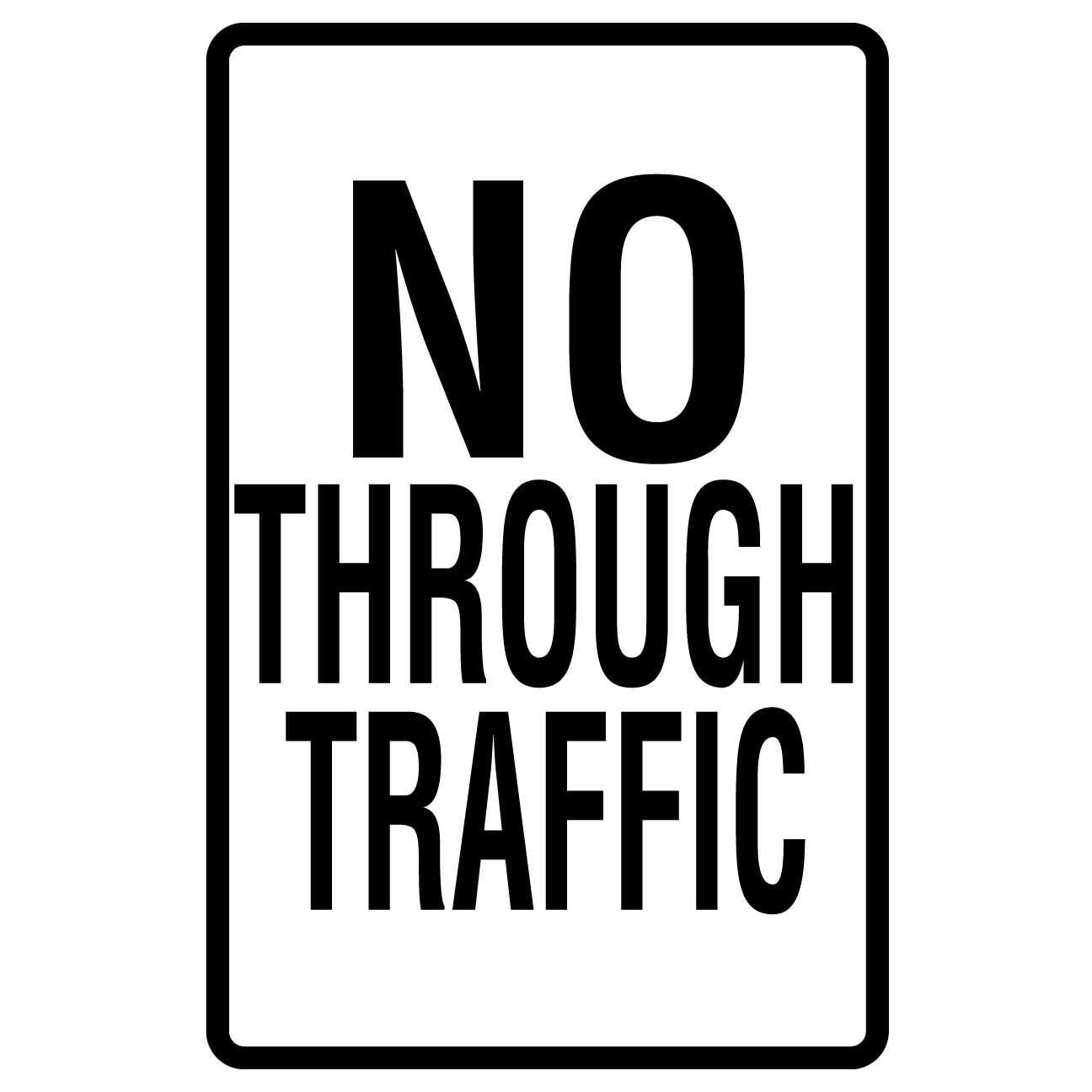 No Through Traffic