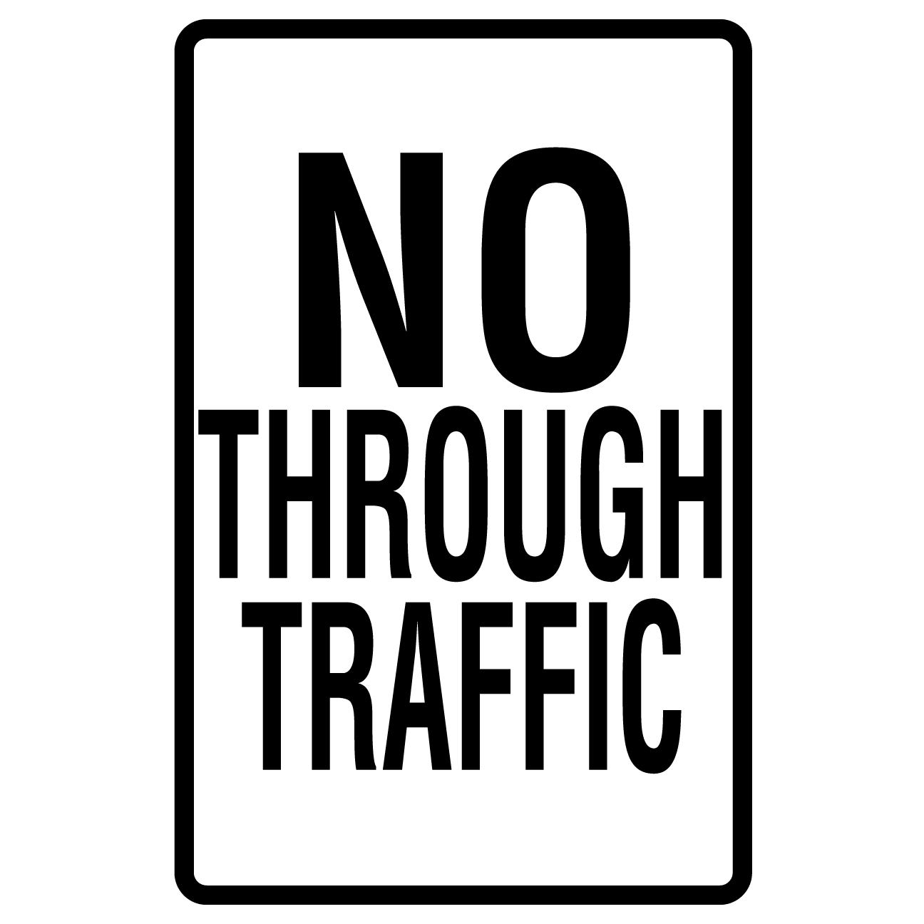 No Through Traffic