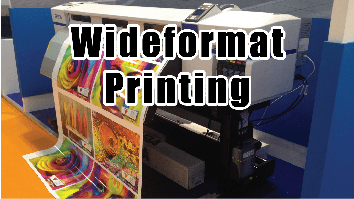 A close up of a wide format printer